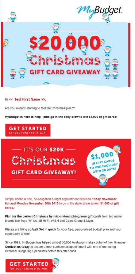 MyBudget eDM Christmas2015